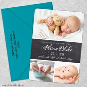 Union Square Baby Nb 5 Save The Date With Optional Color Envelope