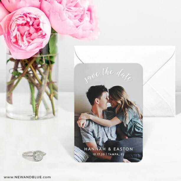 Curved Script 6 Wedding Save The Date Magnets