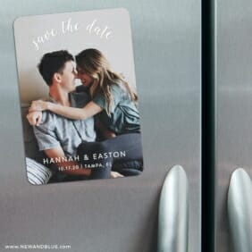 Curved Script 3 Refrigerator Save The Date Magnets