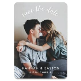Curved Script 1 Save The Date Magnets