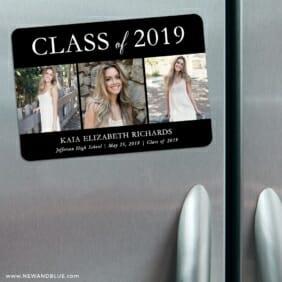 Graduation Collage 3 Refrigerator Save The Date Magnets