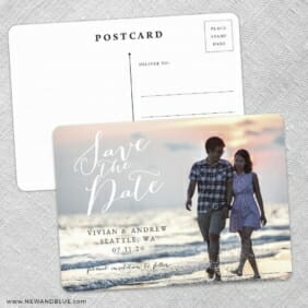 Always Yours Save The Date Wedding Postcard Front And Back