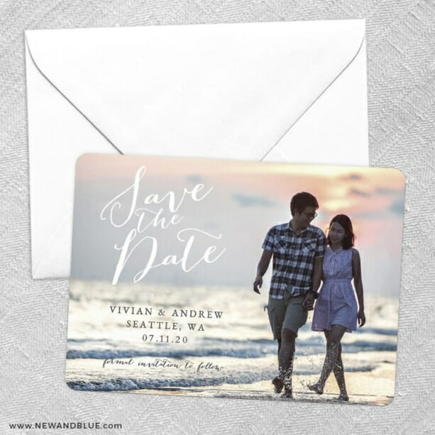 Always Yours Save The Date Party Card