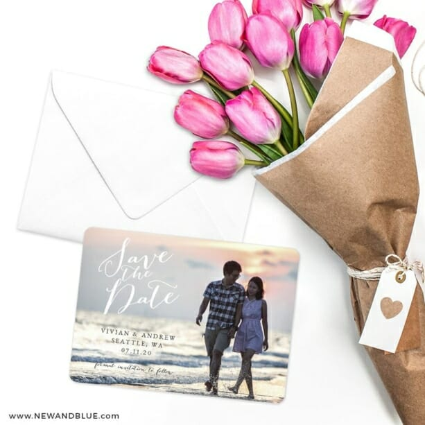 Always Yours Save The Date Cards With Envelope