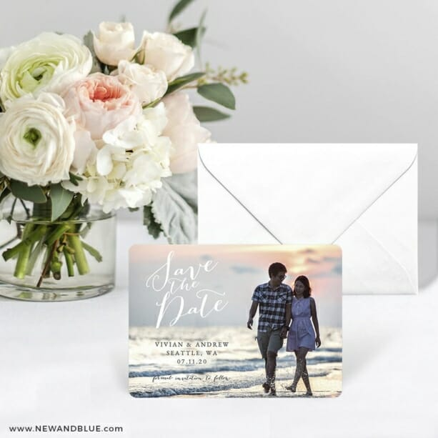 Always Yours Save The Date Card With Envelope