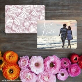 Always Yours Save The Date Card With Back Printing