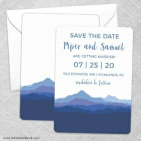 Blue Ridge Mountain Nb Save The Date Wedding Card
