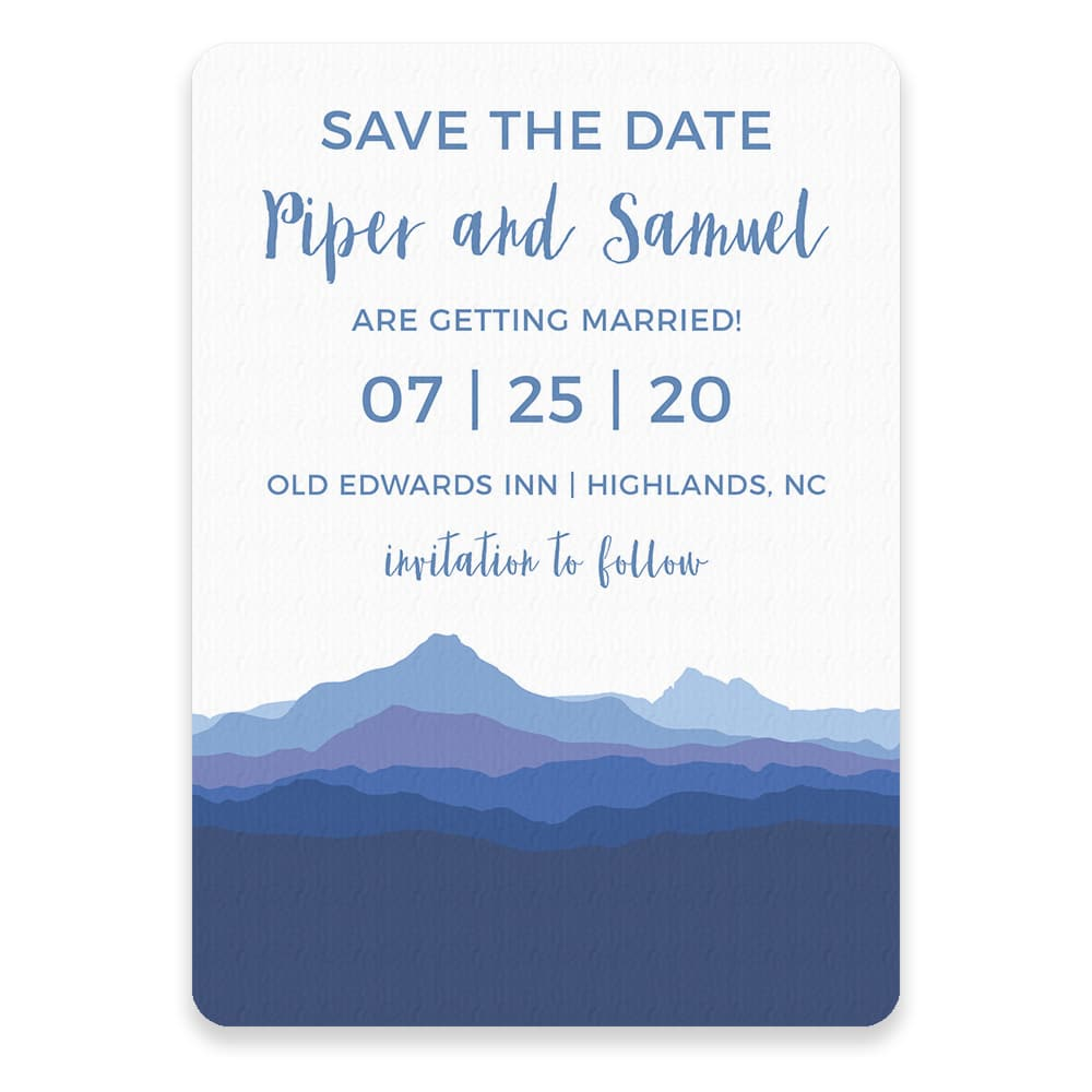 Blue Ridge Mountain Nb Save The Date