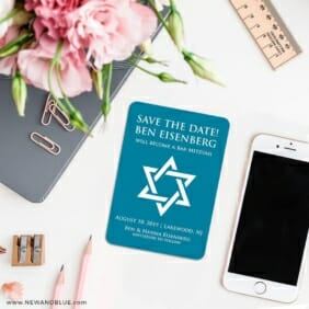 Star Of David Nb 7 Wedding Save The Date Magnets