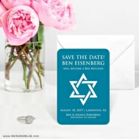 Star Of David Nb 6 Wedding Save The Date Magnets
