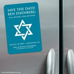 Star Of David Nb 3 Refrigerator Save The Date Magnets
