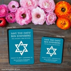 Star Of David Nb 2 Save The Date Magnet Classic And Petite Size