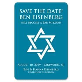 Star Of David Nb 1 Save The Date Magnets