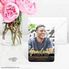 Modern Grad 6 Wedding Save The Date Magnets