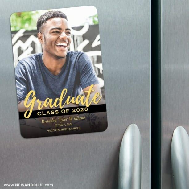 Modern Grad 3 Refrigerator Save The Date Magnets