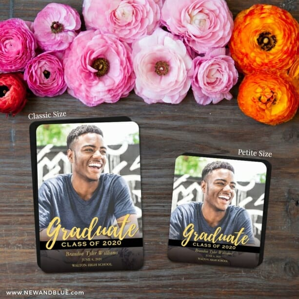 Modern Grad 2 Save The Date Magnet Classic And Petite Size