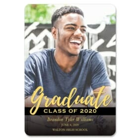 Modern Grad 1 Save The Date Magnets
