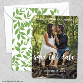 Bliss Save The Date Wedding Card