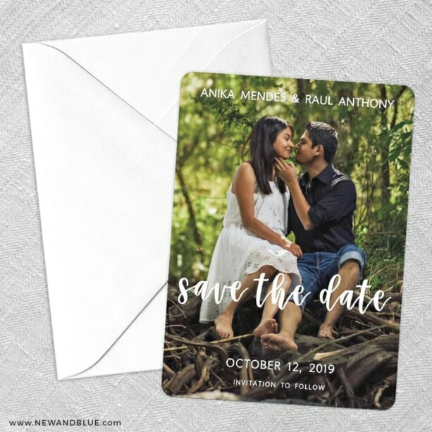 Bliss Save The Date Party Card