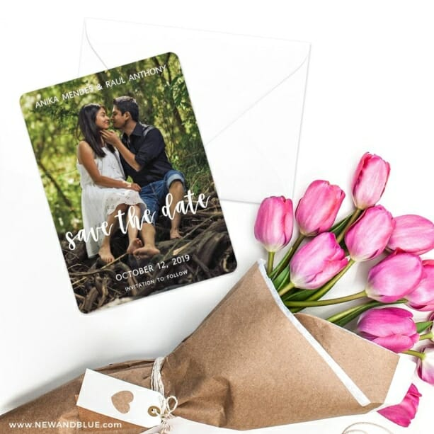 Bliss Save The Date Cards With Envelope