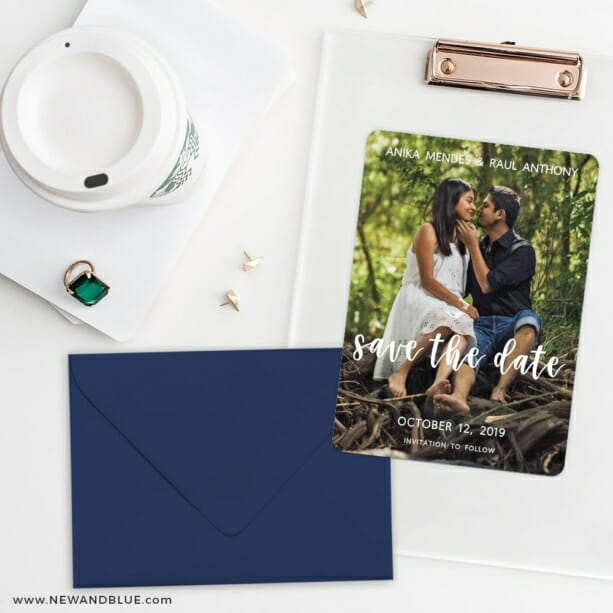 Bliss Save The Date Cards And Optional Color Envelopes