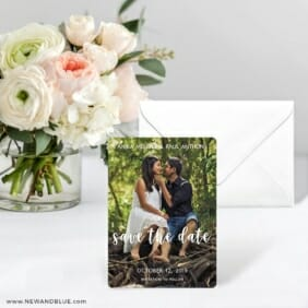Bliss Save The Date Card With Envelope
