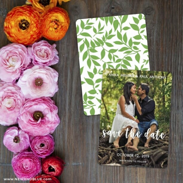 Bliss Save The Date Card With Back Printing
