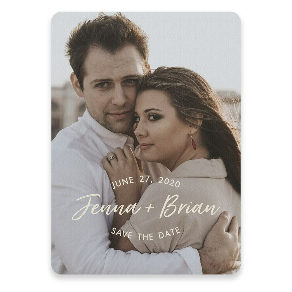 Simply Us Save The Date Postcards