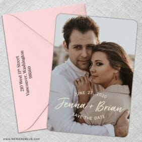 Simply Us 5 Save The Date With Optional Color Envelope