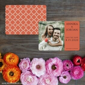Dreams Nb Save The Date Card With Back Printing