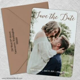 Someone Like You 5 Save The Date With Optional Color Envelope