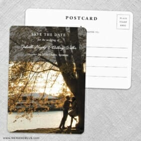 Devoted To You Save The Date Wedding Postcard Front And Back