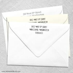 Return Address Printing For Wedding Envelopes