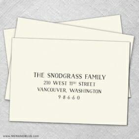Guest Address Printing For Wedding Envelopes