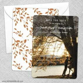 Devoted To You Save The Date Wedding Card