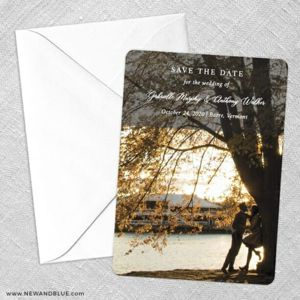 Devoted To You Save The Date Party Card
