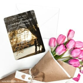 Devoted To You Save The Date Cards With Envelope