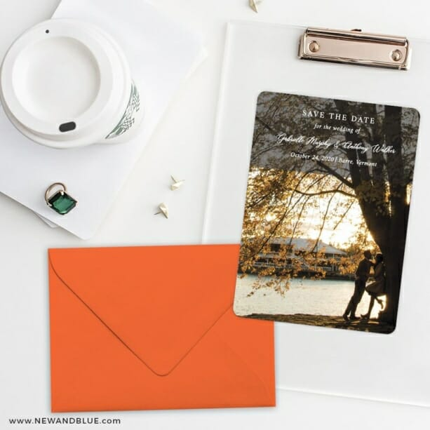 Devoted To You Save The Date Cards And Optional Color Envelopes