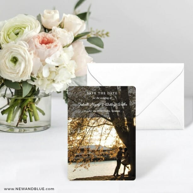 Devoted To You Save The Date Card With Envelope