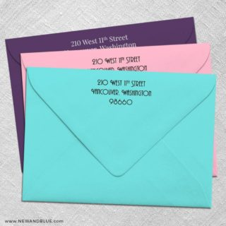 Return Address Printing For Wedding Envelopes