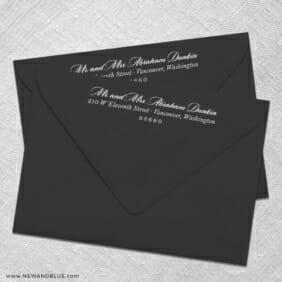 White Ink Envelope Printing Return Address Printing