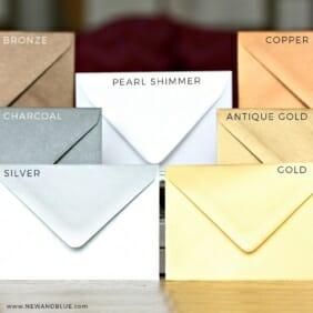 Shimmer Envelopes Pearl