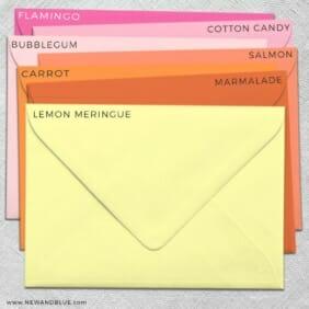 Envelope Color Options Matte