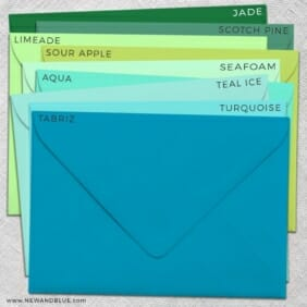 Envelope Color Choices Shimmer Envelope Color Choices Matte
