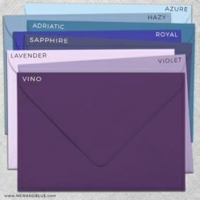Envelope Color Choices Shimmer Color Options For Envelopes Matte
