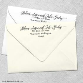 Envelope Address Printing Envelope Shown In White And Ivory