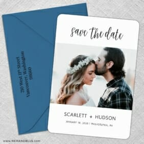 Sweet Romance 5 Save The Date With Optional Color Envelope
