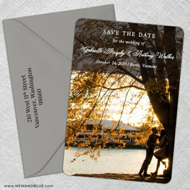Devoted To You 5 Save The Date With Optional Color Envelope
