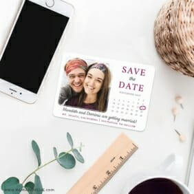 Calendar Couple Nb1 7 Wedding Save The Date Magnets