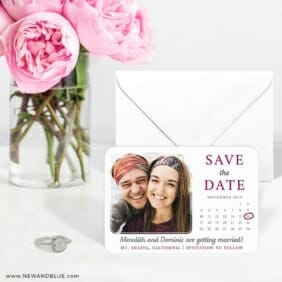 Calendar Couple Nb1 6 Wedding Save The Date Magnets